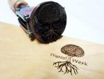 Branding-iron-wood-Baum