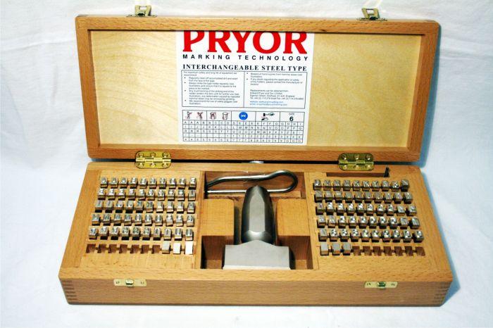 Pryor Fount Set Priority Interchangeable Steel Type Set